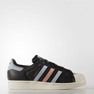 Zapatillas Adidas para mujer super star core negro/easy azul/haze coral BB2141-133