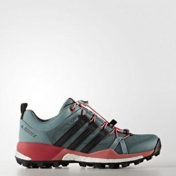 Zapatillas Adidas para mujer terrex skychaser vapour steel/core negro/tactile verde BB0944-253