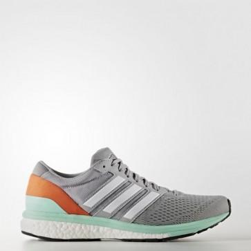 Zapatillas Adidas para mujer zero boston 6 mid gris/footwear blanco/easy naranja BB1729-281