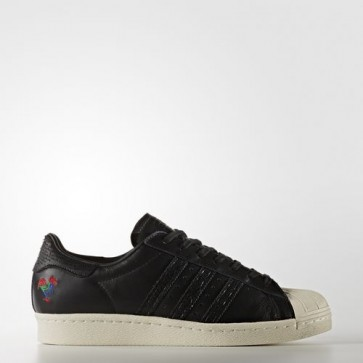 Zapatillas Adidas unisex super star 80s core negro/chalk blanco BA7778-194