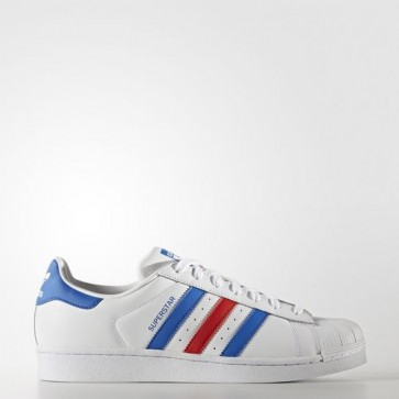 Zapatillas Adidas para hombre super star footwear blanco/azul/rojo BB2246-221