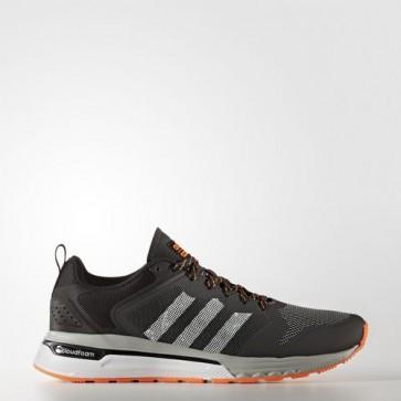 Zapatillas Adidas para hombre cloudfoam super flyer gris oscuro/footwear blanco/solar naranja AW4160-347