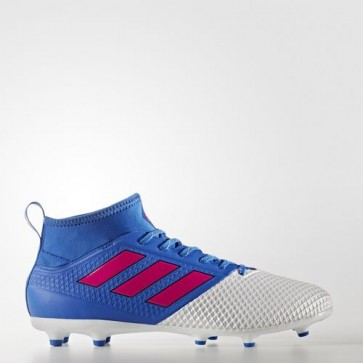 Zapatillas Adidas para hombre ace 17.3 césped natural azul/shock rosa/footwear blanco BA8507-406