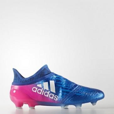 Zapatillas Adidas para hombre x 16+ césped natural azul/footwear blanco/shock rosa BB5613-407