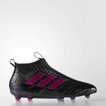 Zapatillas Adidas para hombre ace 17+ césped natural core negro/shock rosa/azul BZ0572-409
