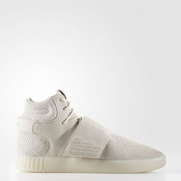 Zapatillas Adidas para hombre tubular invader marrón claro/chalk blanco BB8943-513