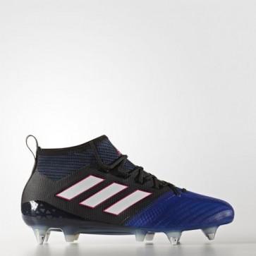 Zapatillas Adidas para hombre ace 17.1 leather césped natural core negro/footwear blanco/azul BA9820-632