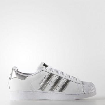 Zapatillas Adidas para mujer super star footwear blanco/silver metallic/core negro AQ3091-010