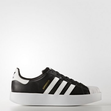 Zapatillas Adidas para mujer super star bold core negro/footwear blanco/gold metallic BA7667-014