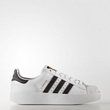 Zapatillas Adidas para mujer super star bold footwear blanco/core negro/gold metallic BA7666-042