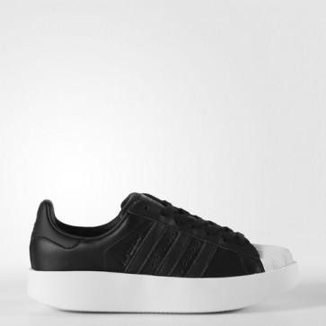 Zapatillas Adidas para mujer super star bold core negro/footwear blanco BA7671-121
