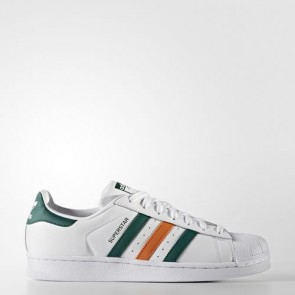 Zapatillas Adidas para hombre super star footwear blanco/collegiate verde/tactile naranja BB2247-007