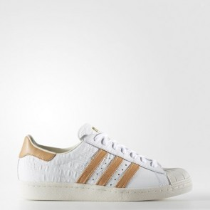 Zapatillas Adidas para hombre super star 80s footwear blanco/gold metallic BB2229-050