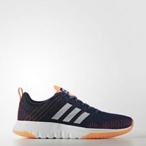 Zapatillas Adidas para mujer cloudfoam super flex mystery azul/footwear blanco/glow naranja AW4206-190