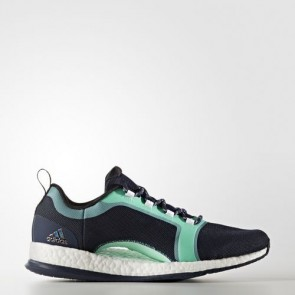 Zapatillas Adidas para mujer pure boost x 2.0 collegiate navy/core negro/easy verde BA7956-230