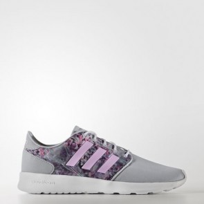 Zapatillas Adidas para mujer cloudfoam qt racer clear onix/light orchid/footwear blanco AW4008-269