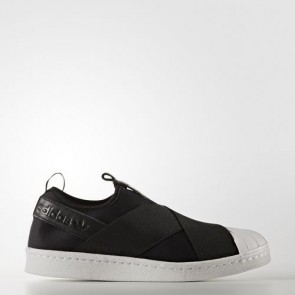 Zapatillas Adidas para mujer super star slip-on core negro/footwear blanco S81337-298