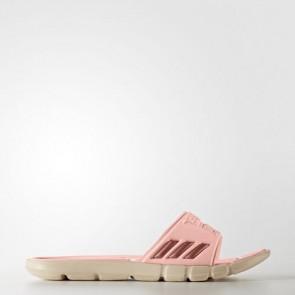 Zapatillas Adidas para mujer chancla pure cloudfoam haze coral/tech rust metallic/linen BB4559-333