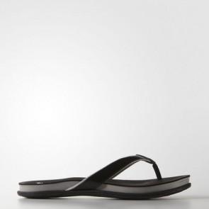 Zapatillas Adidas para mujer chancla super cloud core negro/mid gris/silver metallic B25342-346