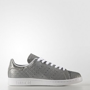 Zapatillas Adidas para mujer stan smith silver metallic/footwear blanco BB5159-352