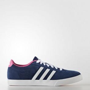 Zapatillas Adidas para mujer courtset mystery azul/footwear blanco/shock rosa B74558-370