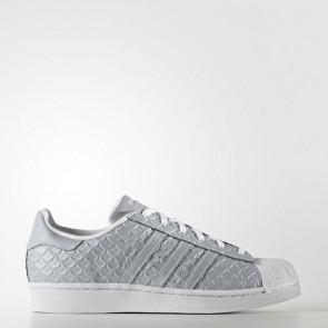 Zapatillas Adidas para mujer super star silver metallic/footwear blanco BY3042-374