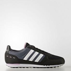 Zapatillas Adidas para mujer city racer core negro/footwear blanco/light orchid B74490-399