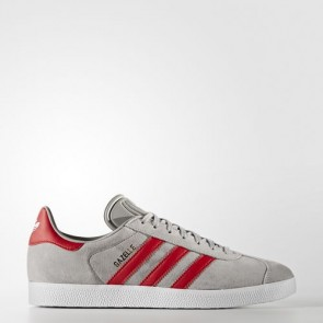 Zapatillas Adidas unisex gazelle medium gris/scarlet/footwear blanco BB5257-061