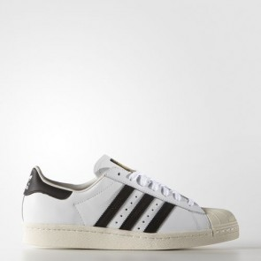 Zapatillas Adidas unisex super star 80s blanco/core negro/chalk blanco G61070-094