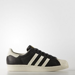 Zapatillas Adidas unisex super star 80s core negro/footwear blanco/gold metallic BB2232-183