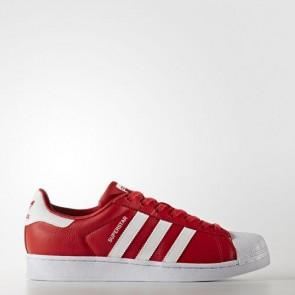 Zapatillas Adidas unisex super star foundation rojo/footwear blanco BB2240-199