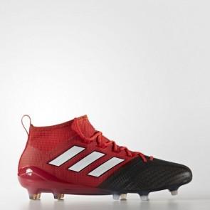 Zapatillas Adidas unisex ace 17.1 leather césped natural rojo/footwear blanco/core negro BB4316-202