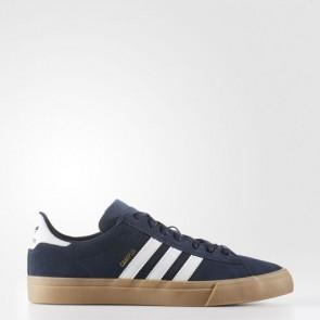 Zapatillas Adidas para hombre campus vulc2.0 collegiate navy/footwear blanco/gum BB8522-172