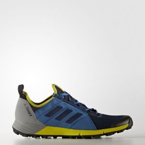 Zapatillas Adidas para hombre terrex agravic speed collegiate navy/core azul/unity lime BB1958-191