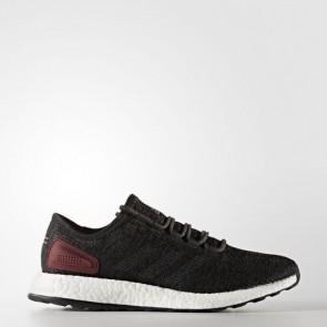 Zapatillas Adidas para hombre pure boost core negro/gris oscuro/collegiate burgundy BA8889-297