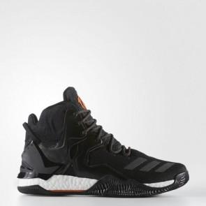 Zapatillas Adidas para hombre d rose 7 primeknit core negro/naranja solid/utility negro B49511-337