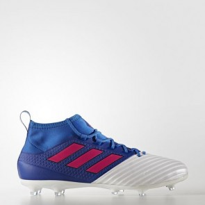 Zapatillas Adidas para hombre ace 17.2 césped natural azul/shock rosa/footwear blanco BB4323-411
