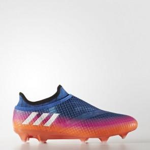 Zapatillas Adidas para hombre messi 16+ césped natural azul/footwear blanco/solar naranja BB1871-428