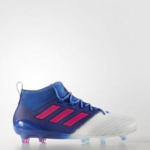 Zapatillas Adidas para hombre ace 17.1 leather césped natural azul/shock rosa/footwear blanco BB4319-435