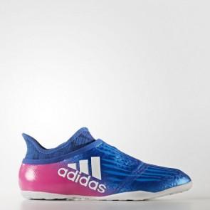 Zapatillas Adidas para hombre sala x tango 16+ purechaos indoor azul/footwear blanco/shock rosa BY2824-447