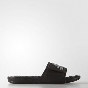 Zapatillas Adidas para hombre chancla ssage 2.0 core negro/matte silver S78504-461