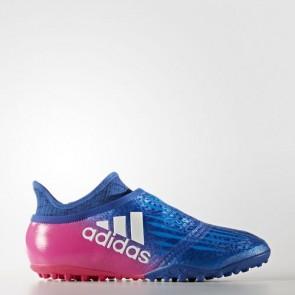 Zapatillas Adidas para hombre x tango 16+ purechaos calle o moqueta azul/footwear blanco/shock rosa S82083-463