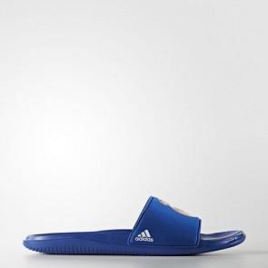 Zapatillas Adidas para hombre chancla real madrid collegiate royal/footwear blanco AQ3795-480
