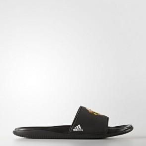 Zapatillas Adidas para hombre chancla manchester united fc core negro/footwear blanco AQ3794-485