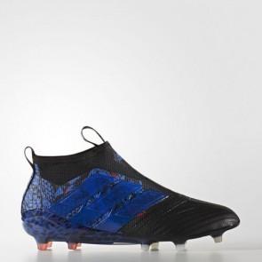 Zapatillas Adidas para hombre ace 17+ césped natural core negro/azul BY1837-493