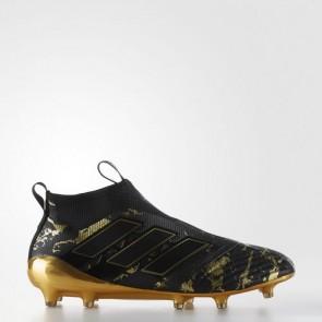 Zapatillas Adidas para hombre ace 17+ césped natural core negro/matte gold BY9143-498