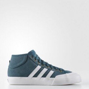 Zapatillas Adidas para hombre match court mid mystery verde/crystal blanco/gold metallic BB8572-552
