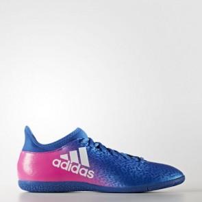 Zapatillas Adidas para hombre sala x 16.3 indoor azul/footwear blanco/shock rosa BB5678-572