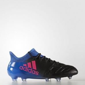 Zapatillas Adidas para hombre x 16.1 césped natural core negro/shock rosa/azul BB5623-576
