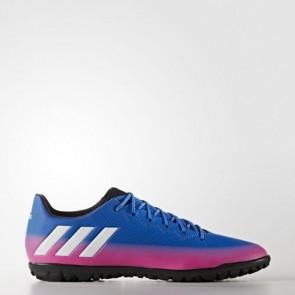 Zapatillas Adidas para hombre messi 16.3 moqueta azul/footwear blanco/solar naranja S77051-585